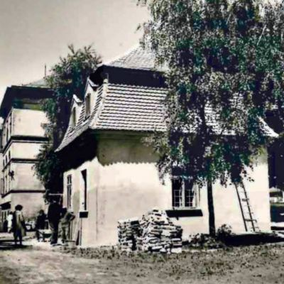 Fotografia zprác na obnove strechy