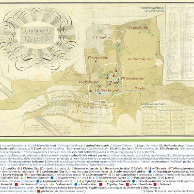 Plán Dolnej Krupej z roku 1822, ktorý po prestavbe vyhotovil inšpektor panstva Eugen Jeroslavský.